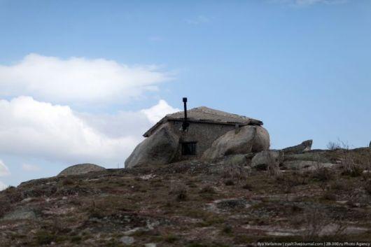 A Fairy House Built Inside A Stone