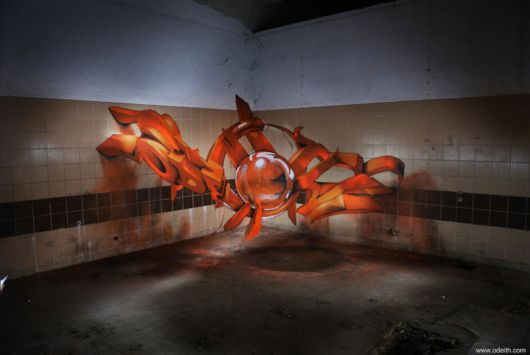 3D Graffiti That Seems To Float In The Air