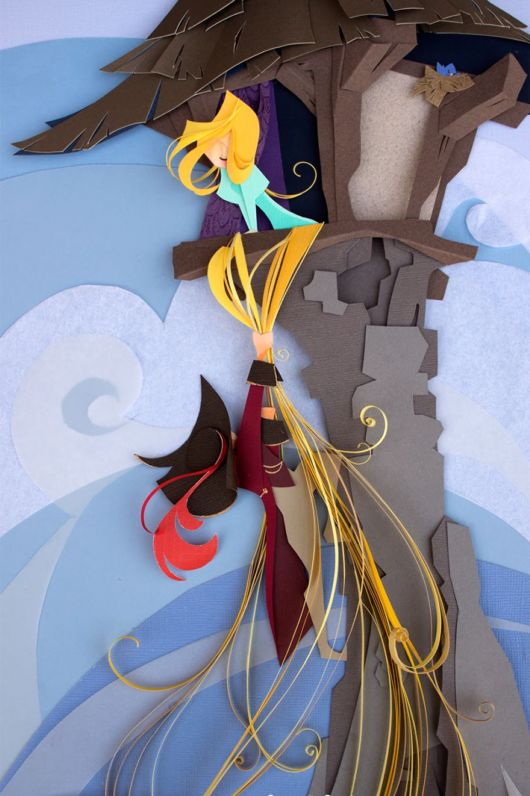 Talented Artist Makes Disney Characters From Layers Of Paper