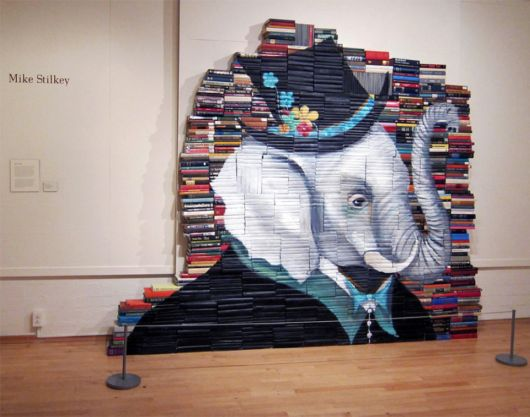 Artist Uses Salvaged Books As A Canvas