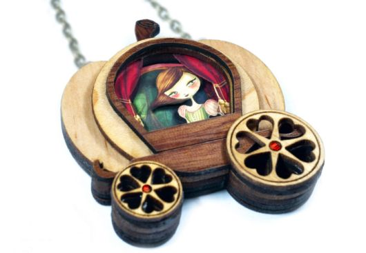 Creative Fairytale Inspired Necklaces With Tiny Scenes Inside