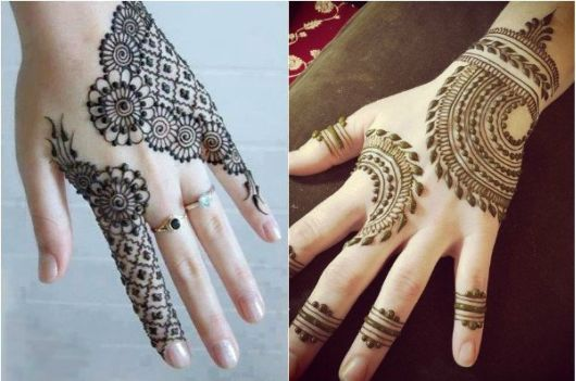 20 Unique Mehndi Designs For Back Hand, Palms And Feet