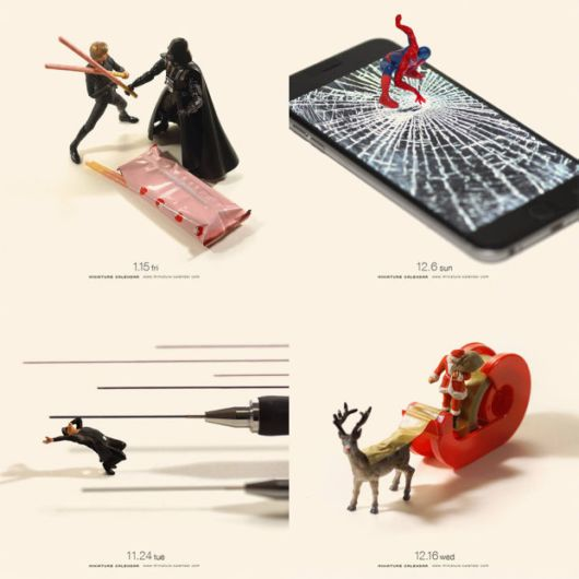 Awesome Playful Miniature Dioramas Made From Everyday Objects