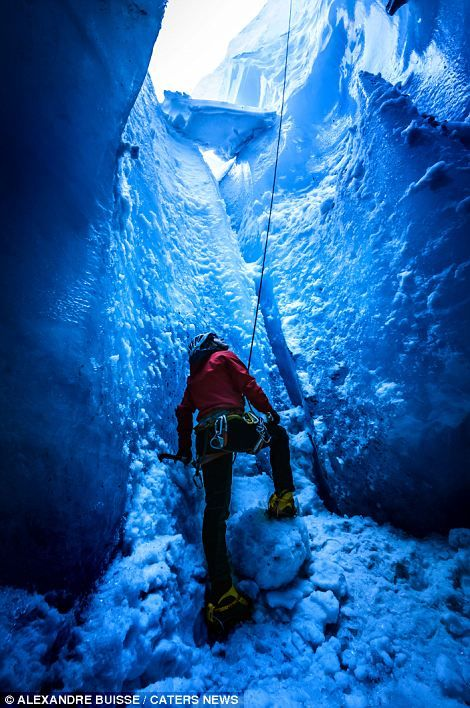 Breathtaking Ice Tunnels Of French Alps