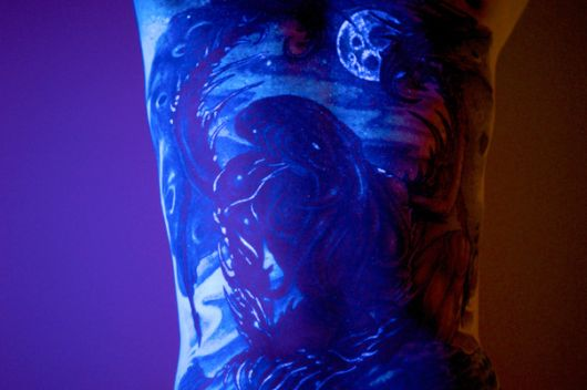 Glowing In The Dark Tattoos Visible Under Black Light