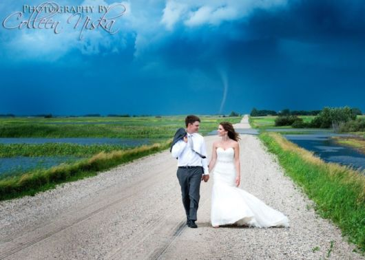 Wedding Photoshoot Interrupted By Storm