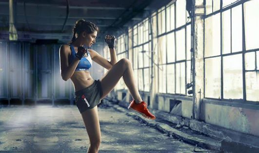 Nargis Fakhri Doing Yoga For The Reebok