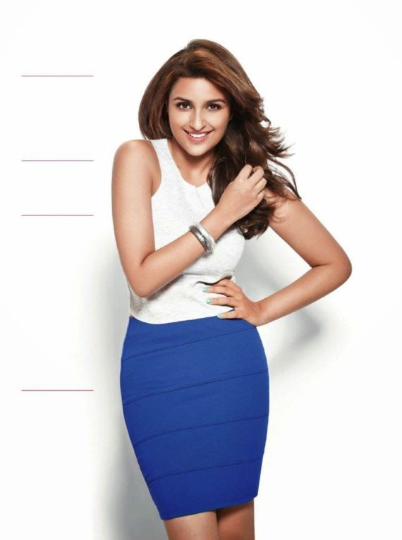 Smiling Parineeti Chopra For Womens Health Magazine