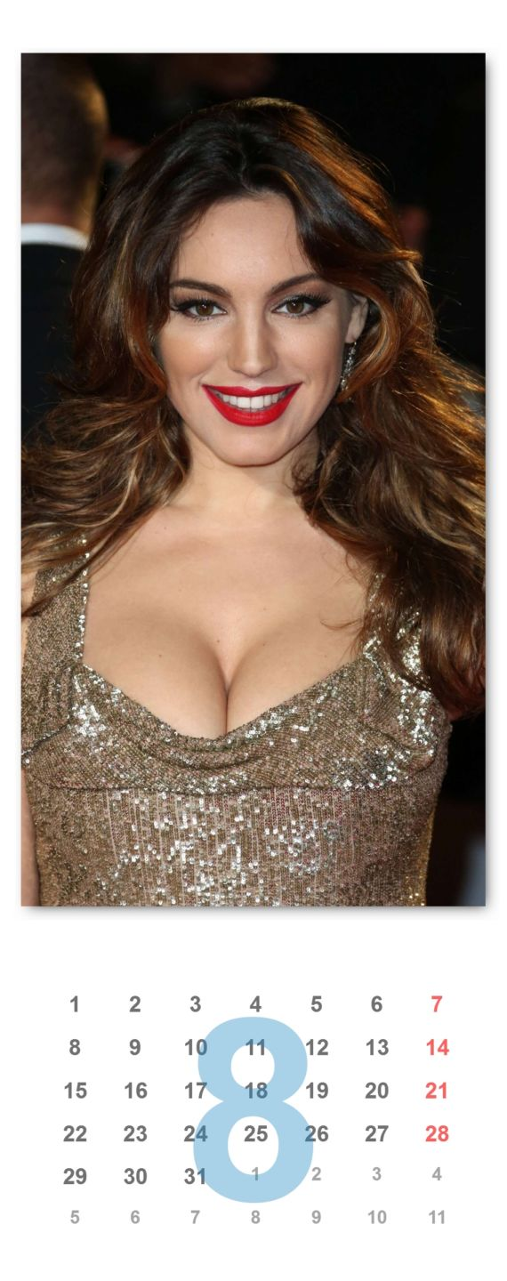 Kelly Brook Unofficial Calendar 2016