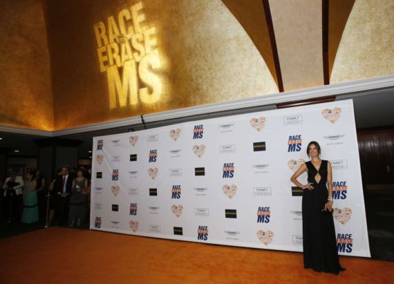 Alessandra Ambrosio In Black At Race to Erase MS Gala
