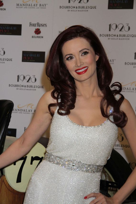 Holly Madison At The Grand Opening Of 1923 Bourbon And Burlesque