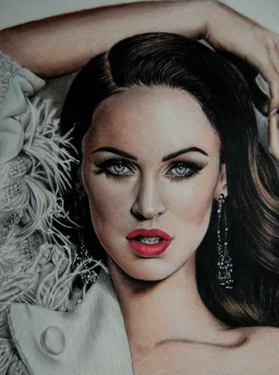 Celebs Color Pencil Drawings By Valentina Zou