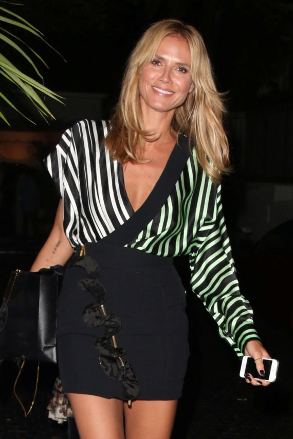 Heidi Klum Leaving The Chateau Marmont