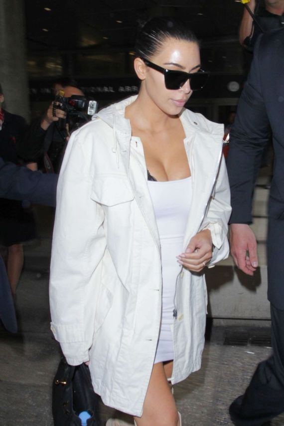 Kim Kardashian Spotted At LAX Airport In LA