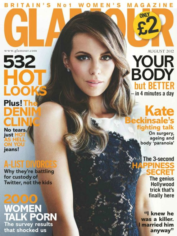 Kate Beckinsale In Glamour UK