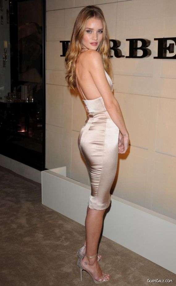 Rosie Huntington Whiteley At Burberry Party