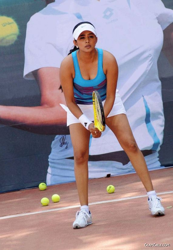 Beautiful Priyamani In The Tennis Outfit